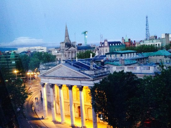 The Westin Dublin: View of the Bank of Ireland from my 4th floor room