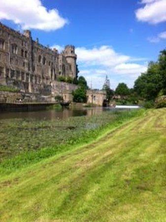 Warwick Castle: View across the Avon