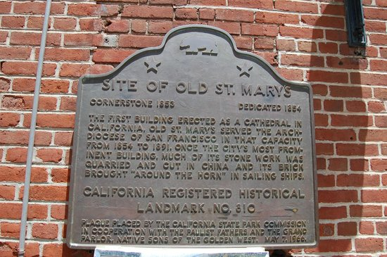 Old Cathedral of St. Mary: Plaque