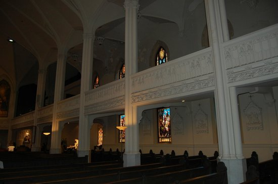 Old Cathedral of St. Mary: note the two levels with stained glass