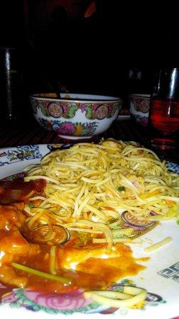Chin Chin: noodles and schezwan chicken