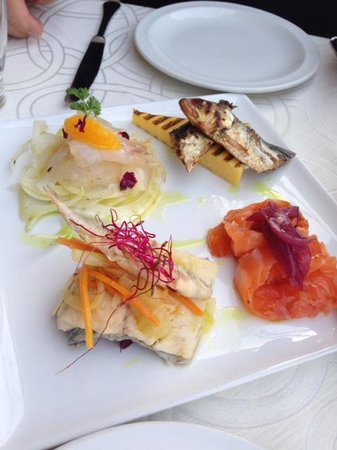 Hotel Belvedere: delicious seafood starter
