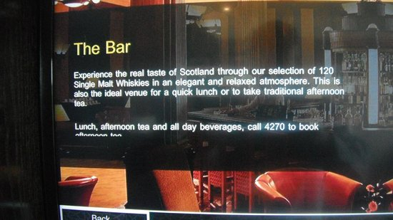 Gleneagles Hotel: Bar - 120 marcas.