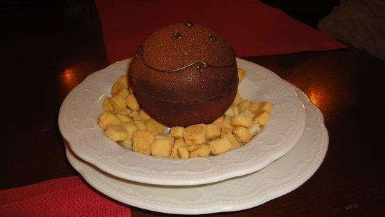 Café Pushkin : Postre, antes de ponerle el chocolate caliente