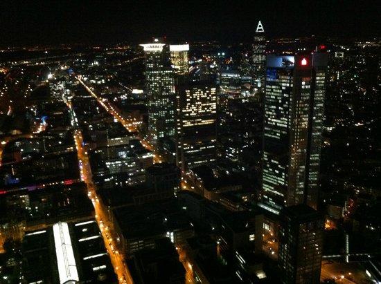 Frankfurt Main Tower - night view.