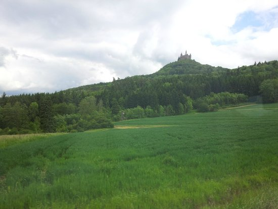 Burg Hohenzollern: photo taken from bus