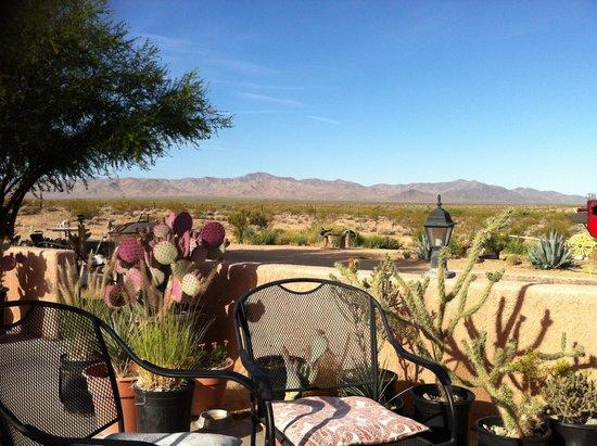 Stagecoach Trails Guest Ranch: Vue depuis la terrasse