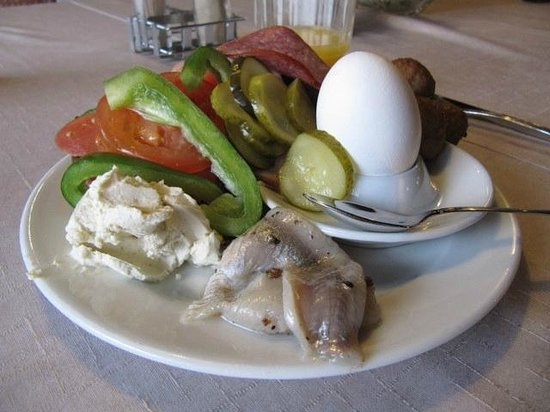 Cumulus Oulu Hotel : Delightful things the Finns have for breakfast, very healthy too!