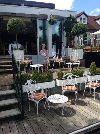 Waterside Inn : Terrace