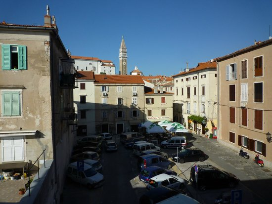 Hotel Piran: View from the room