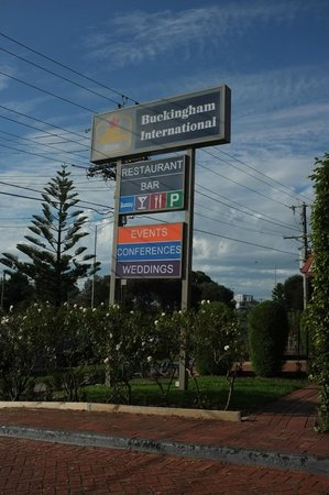 Best Western Plus Buckingham International: The hotel sign which you could see when you're driving