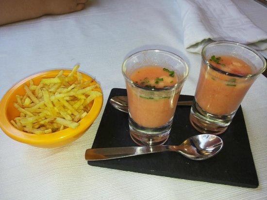 Restaurant Can Pini : Aperitivos de cortesia, para adultos y pequeños
