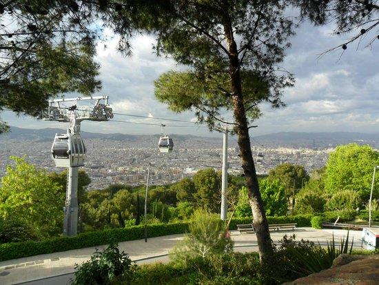 Parks des Montjuïc: Panorama con teleferica