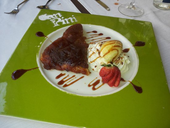 Restaurant Can Pini : Tarta tatin, muy buena