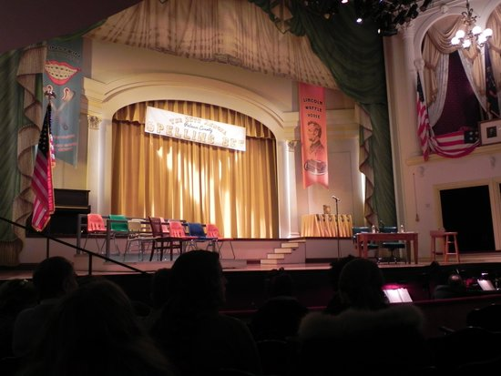 View of our seats for the play at Ford's Theatre.