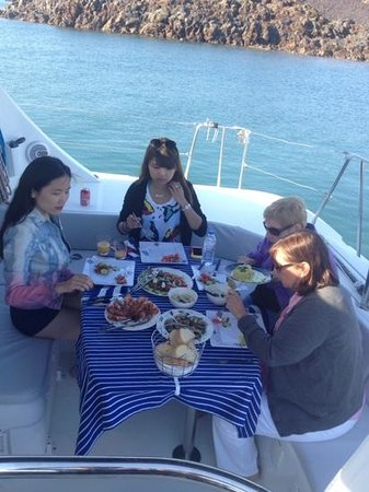 Anchors Away Yachting: lunch on board