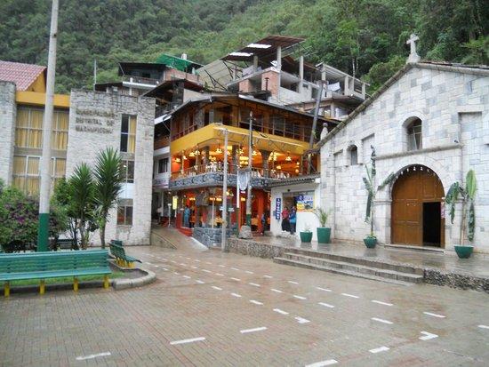 Santuario Histórico de Machu Picchu: Centro de Machu Picchu. Fiquei no Hotel El Mape: muito bom!