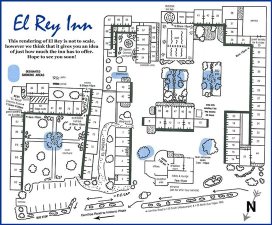 El Rey Inn: Map of the property
