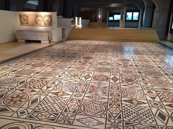 Museum of Gallo-Roman Civilization: mosaic floor from Roman Lyon