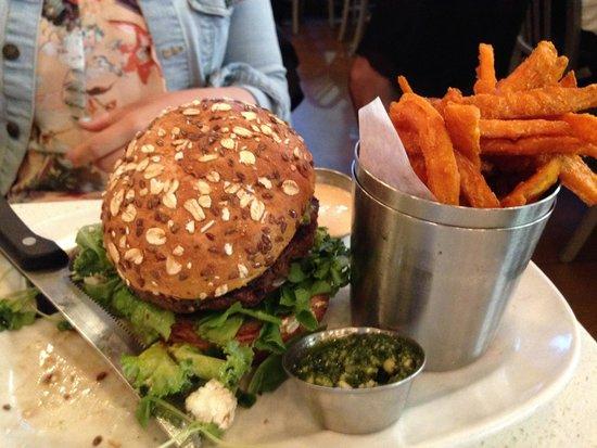 The Counter: custom burger and sweet potato fries