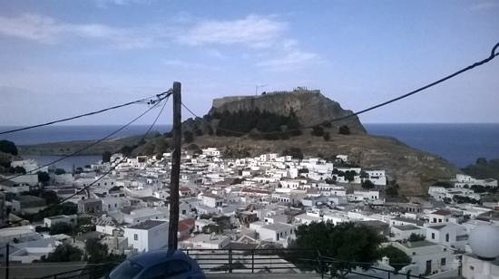 Lindos Panorama Studios: view from the communal balcony