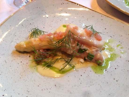 Fjord Restaurant: White Fish, lumpfish caviar, quail egg