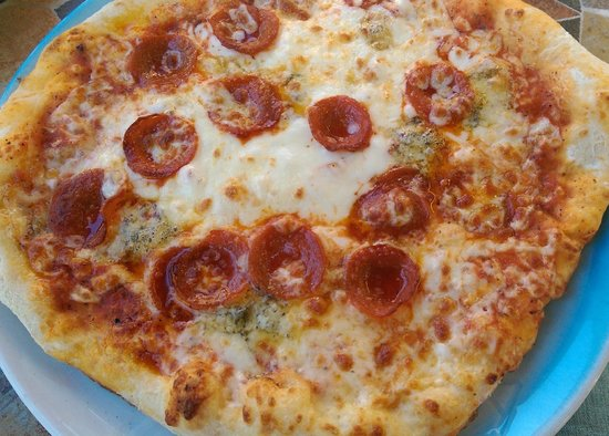 La Pizzeria: 4 cheese with extra pepperoni