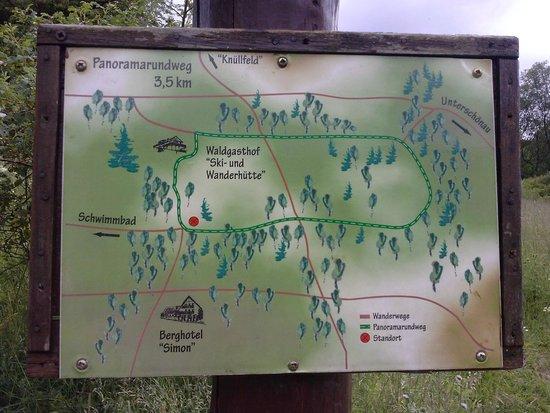 Oberschönau, Deutschland: hiking track map