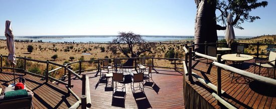 Ngoma Safari Lodge: From the porch of the lodge