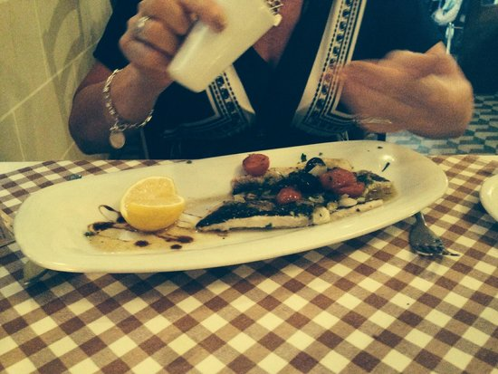 D'Office: Sea Bass Fillets - Olives, Cherry Tomatoes & Herbs