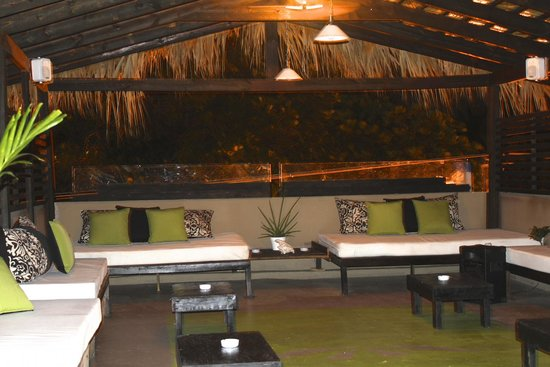 Urban Cabana: Rooftop at night