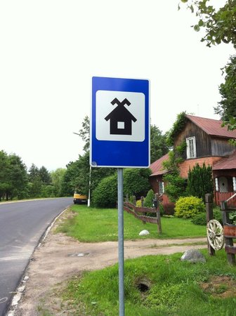 Rumsiskes Open-Air Museum: If you see this sign your on the right road to the museum- 10 mins walk from here