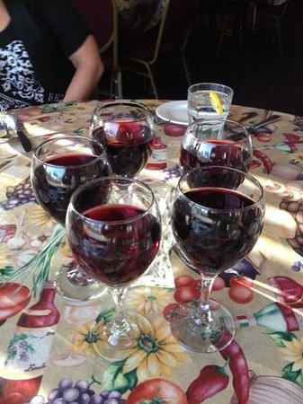 Terra Nostra: a glass of wine to start a fun evening on Friday the 13th! no bad luck here!