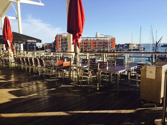 La Tasca Portsmouth: view from our balcony