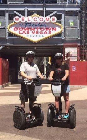 Segway Las Vegas: photo of us on the Segways