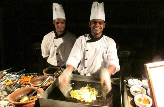 Makunudu Island: Chefs Rahul and Akbar on Maldivian night.
