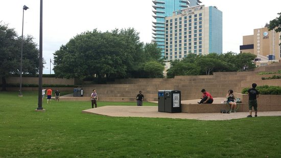 Par Kour in the park. - Picture of Fort Worth Water Gardens, Fort ...