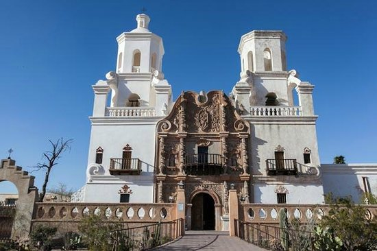 Mission San Xavier del Bac : Cool view of the Mission