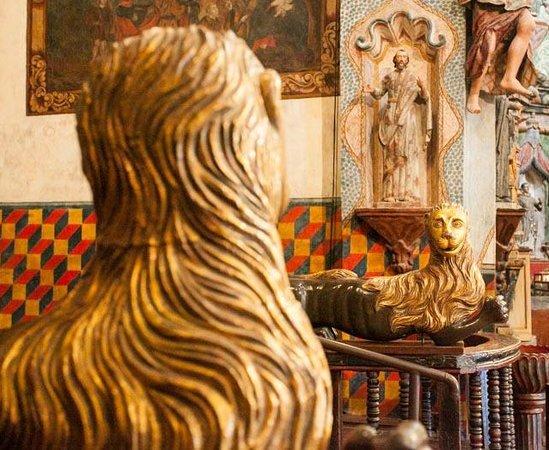 Mission San Xavier del Bac: Lions guarding the main altar