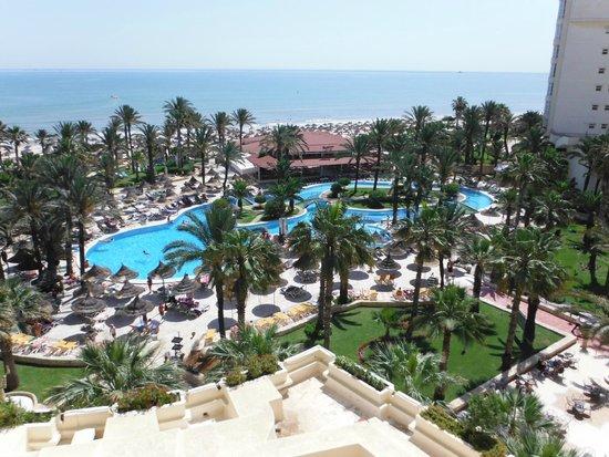 Riadh Palms Hotel: Widok z 4-go piętra.