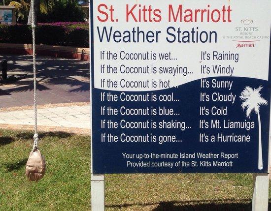 St. Kitts Marriott Resort & The Royal Beach Casino: Joke met station