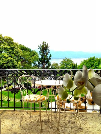 Beau-Rivage Palace : Вид на Женевское озеро