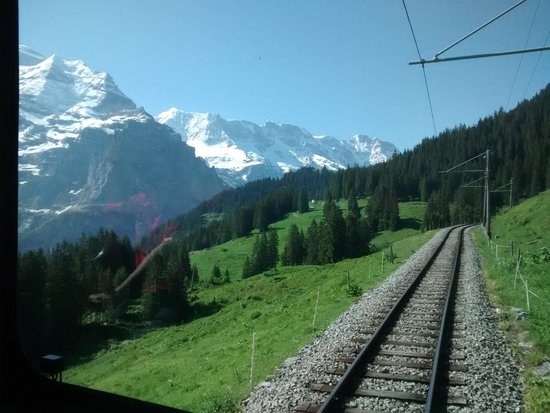 Schilthorn: Wonderful train ride from Grutschalp to Murren