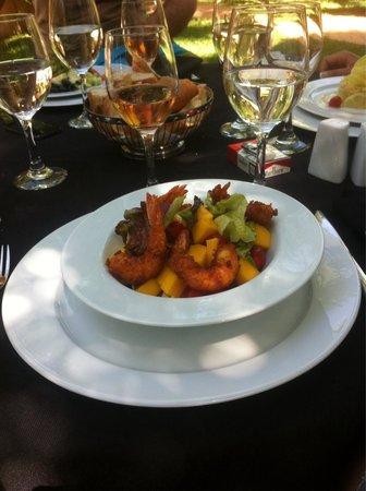 Lodge K Hotel & Spa: Une salade aux gambas et mangue un délice