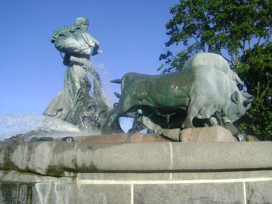 Gefionspringvandet: Gefion Fountain, Copenhague, Dinamarca.