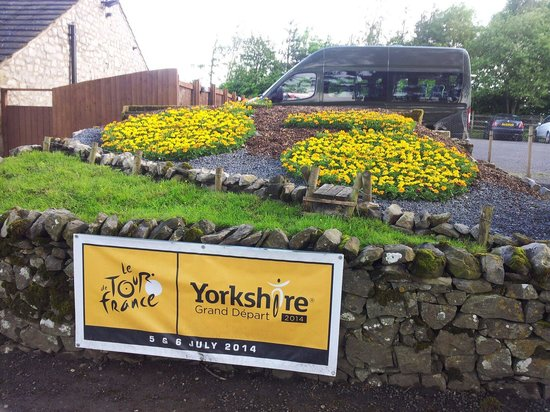 The Coniston Hotel Country Estate & Spa: Building up to the Tour de France. A beautiful floral display.