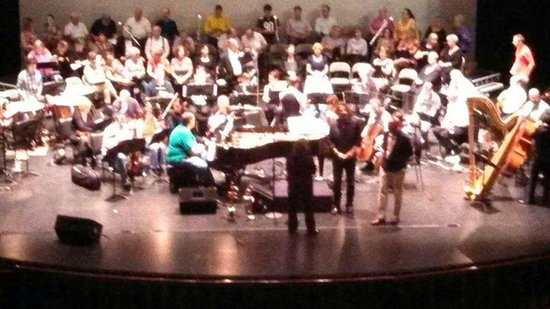 Raue Center for the Arts: orchestra rehearsal at Raue Center