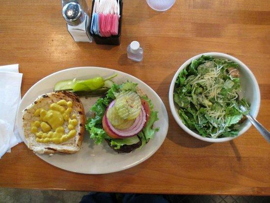 Urban Eatz : Excellent No. 30 on a wheat bun w/ an equally excellent Cesar salad