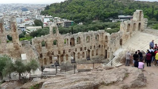 Herod Atticus Odeon: Odeum of Herodes Atticus  veiwed from the Acropolis
