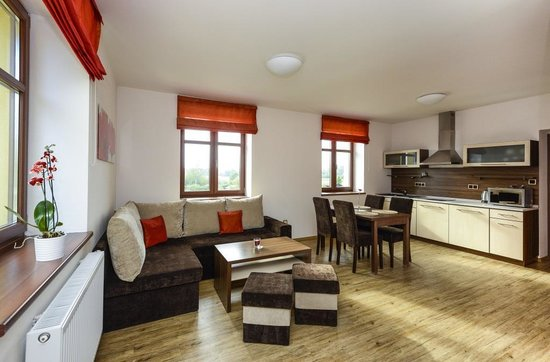 Apartmany Na Seniku : Red one bedroom apartment